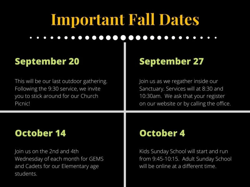 important fall dates